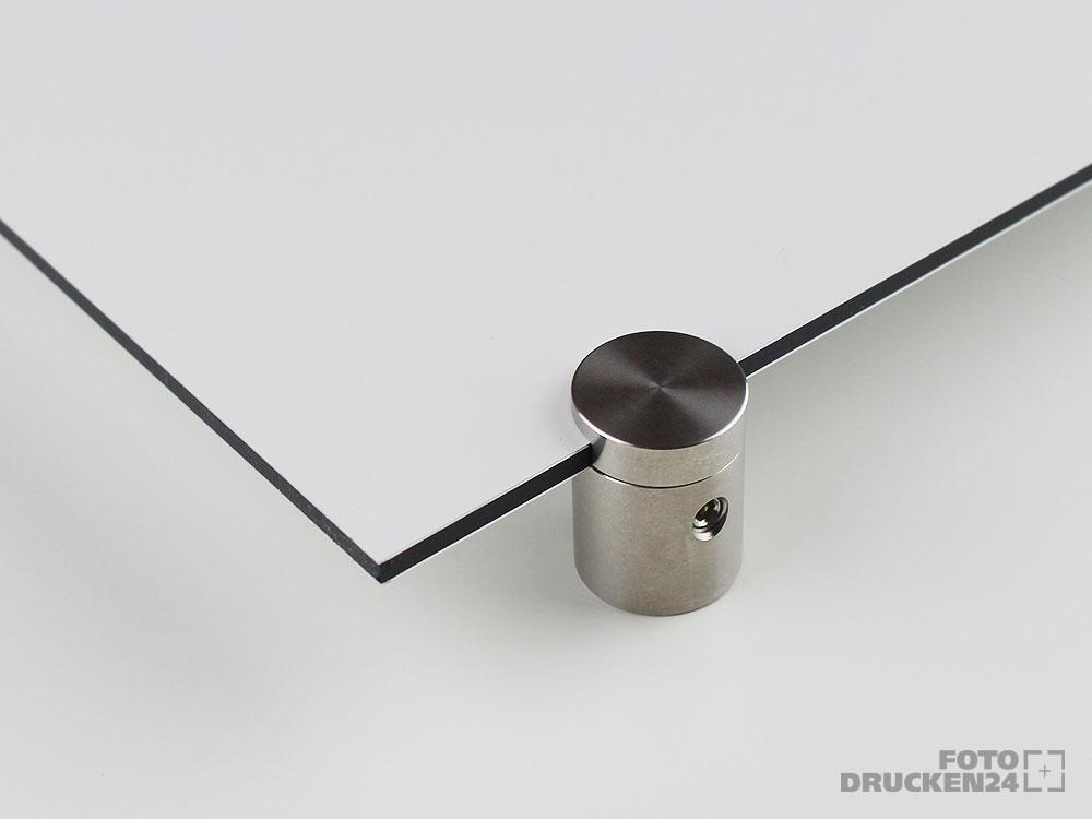 Aluverbundplatte mit Wandabstandhalter