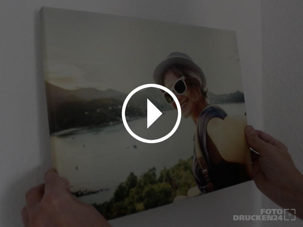 Video: Leinwanddruck Wandmontage