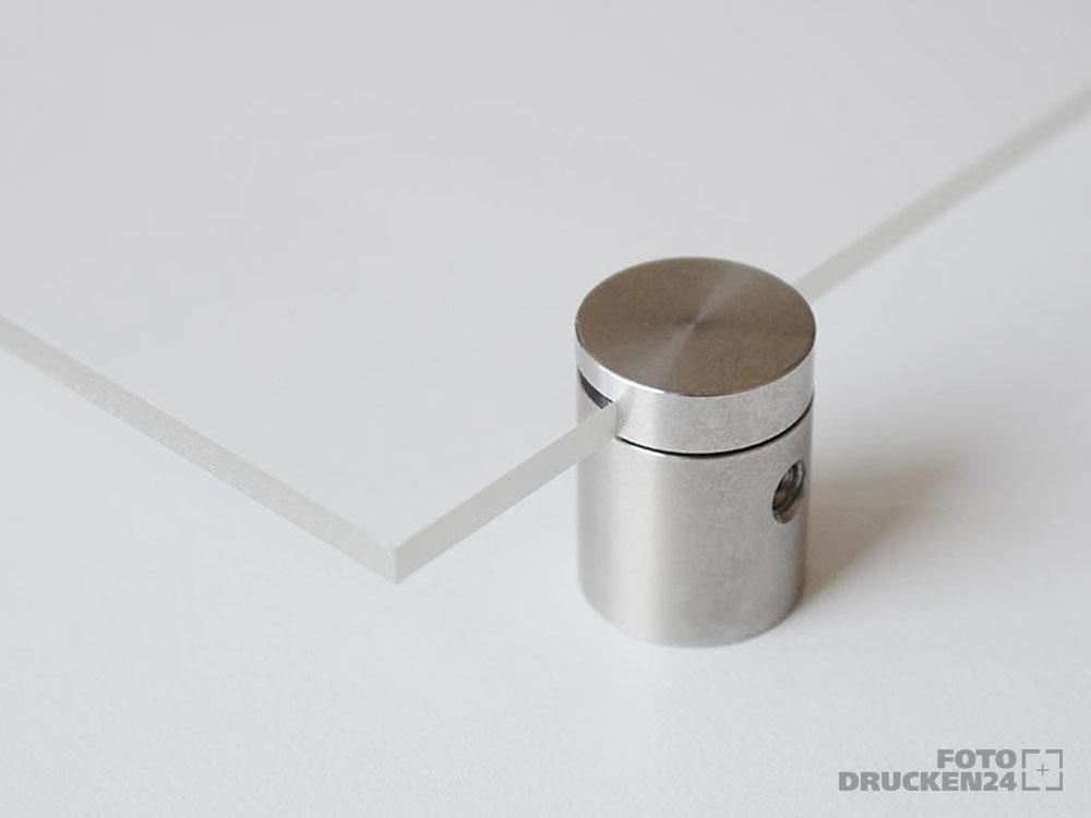 Acrylglasplatte mit Abstandshalterung