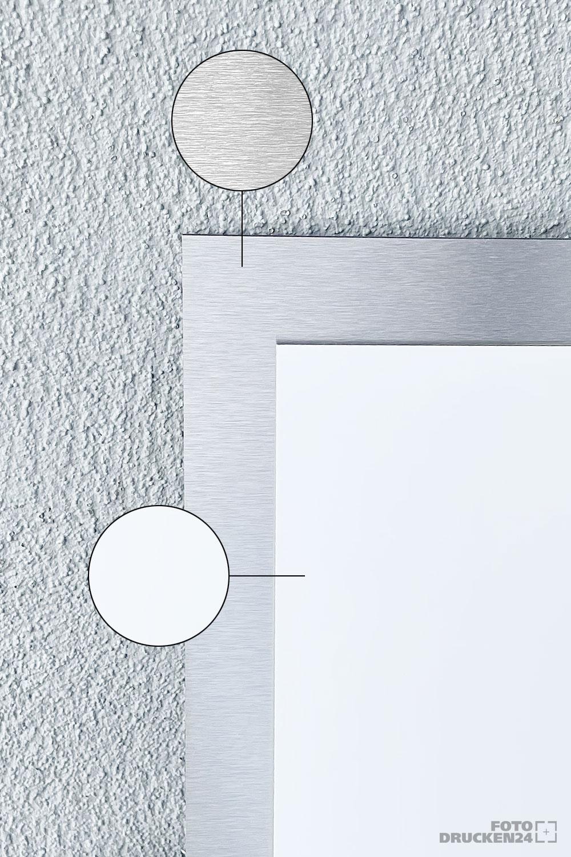 Vergleich Aluverbund weiß und silber gebürstet