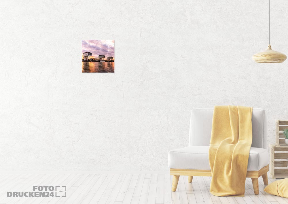 Größenvergleich bedruckte Aluverbundplatte 50 cm