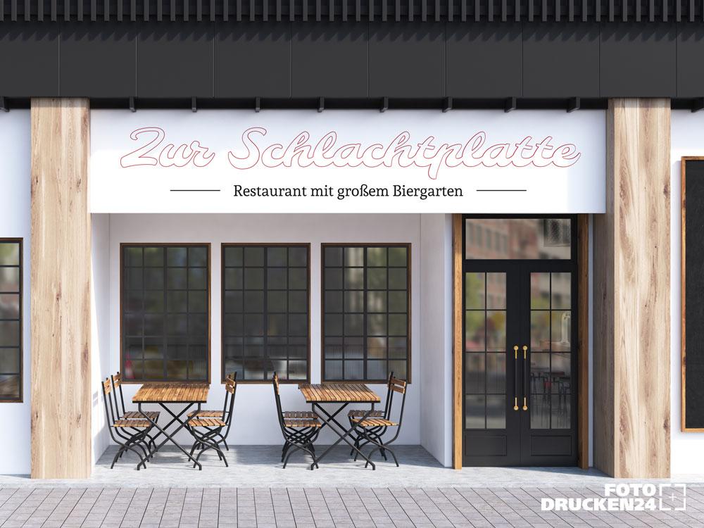 Restaurantschild aus Forex gedruckt