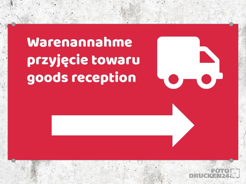 Wegweiser LKW mehrsprachig auf Hartschaum