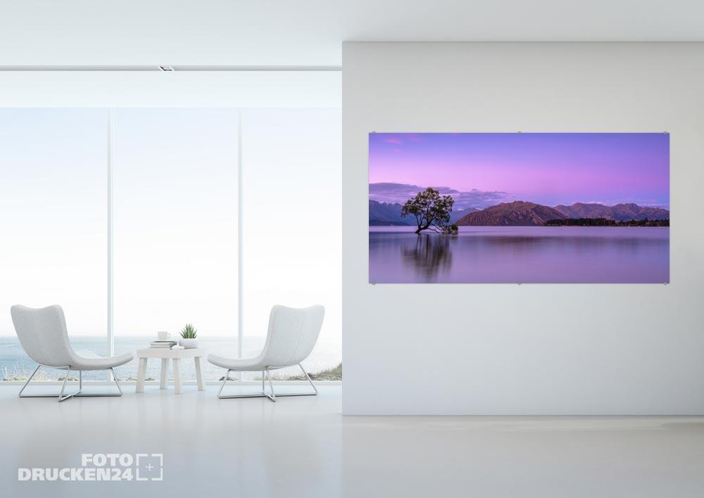 Acrylglasfoto mit Landschafts-Motiv