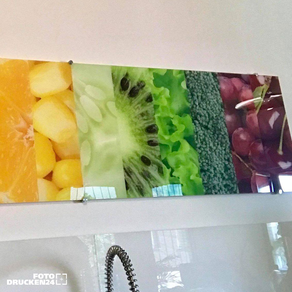 Küche Fliesenspiegel auf Acrylglas gedruckt